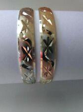 18k Gold Filled Baby Bangle 2pcs Bracelets 6mm  Size 2