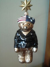 Hermann Biker Teddy Bear Ornament - Nib