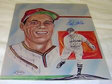 Bob Feller Signed 8x10 Cleveland Indians