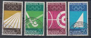 BRD Briefmarken 1969 Olympia München Mi 587-90 gestempelt