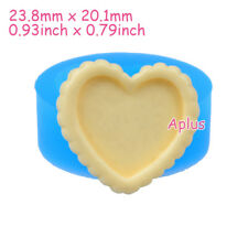 QEB018 23.8mm Heart Cake Tart Silicone Mold Jewelry Cabochon DIY Resin Baking