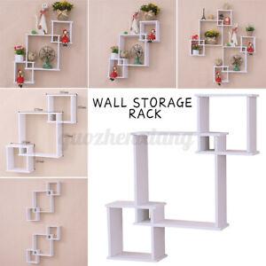 Wall Storage Rack Shelf Hanging Decorative Home Office Storage Display Rack PVC