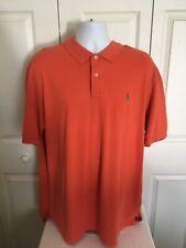 Polo Ralph Lauren Orange Short Sleeve Polo Casual Shirt XXL 2XL 100% Cotton