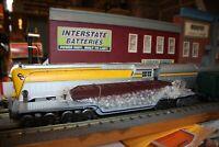 Lionel O gauge center depressed flat car W/girder load #6509 new in original box