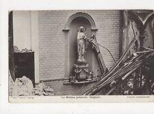 La Madone Preservee Belgique WW1 Vintage Postcard 387a