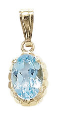 Unbranded Topaz Yellow Gold Fine Necklaces & Pendants