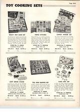 1955 PAPER AD Wolverine Toy Tea Set Baking Set Heinz Kitchen Ideal Cake Mix Set