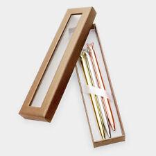 Diamond Top Metal Ballpoint Writing Pens School Office Stationery Boxed Set 3PCS