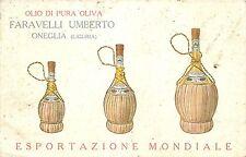 Faravelli Umberto Olio di Pura Oliva Olive Oil Advertising Oneglia Italy vtg pc