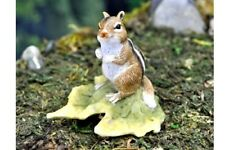 Miniature Dollhouse Fairy Garden - Chipmunk On Leaf - Accessories
