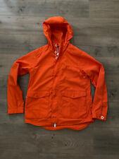 Levis California Mens Sierra Hooded Rain Coat Jacket Small Rust MSRP$348