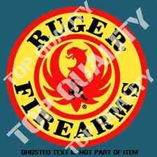 VINTAGE RUGER FIREARMS Decal Sticker Vintage Americana Garage Hot Rod Stickers