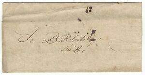 India 1828 pre-stamp cover to Browne Roberts Sheriff of Calcutta – no postmark Ӝ