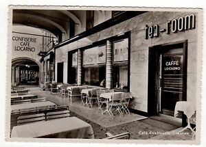 Confiserie Cafe Locarno SWITZERLAND Vintage Real Photo Postcard