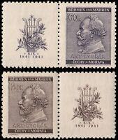 ✔️  GERMANY BOHEMIA MORAVIA 1941 WWII DVORAK - SC. 54/55 ** MNH OG [GBM073]