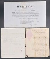 1840s William Slade Key Abolitionist 17th VT Governor & Representative Documents