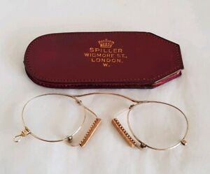 Antique pair of 12 ct Yellow Gold Rimmed Spectacles. C19th. By Spiller. London