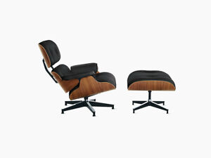 Herman Miller Eames Lounge Chair & Ottoman Tall Model   AUTHENTIC  