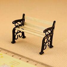 Neu 1/24 Puppenhaus Miniatur Garden Patio Furniture Parkbank
