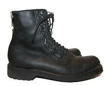 Diesel D-Ayddlets Boots Gr. 40 Leder Stiefel black schwarz