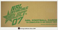 Select 2007 NRL INVINCIBLES CARD FACTORY CASE (12 Boxes + Case Card)-Value