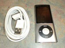 APPLE IPOD NANO 16 GB SILVER A1320 5TH GEN CAMERA NEW 30-Pin Cable Bundle READ