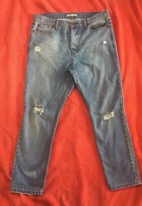 HONOR AMONG THIEVES Blue Ripped Dot Jeans - Size 29- Worn Once - Excellent $249