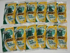 LOT (12) BIC TWIN SELECT DISPOSABLE RAZORS SENSITIVE SKIN SHAVERS 10CT/EACH NEW