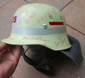 Helm Stahlhelm Feuerwehr Freiwillige Feuerwehr FJ Kinnriemen und Nackenschutz