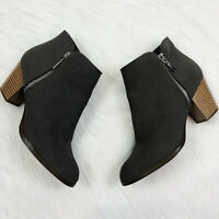 STYLE & CO Women's Shoes Jamila Zip Up Bootie Gray Knit Suede Size 9