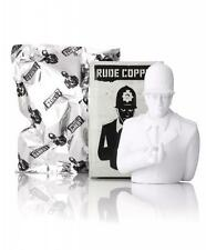 "FULL CASE OF 9 RUDE COPPER DIY WHITE 6"" VINYL TOY FIGURES APOLOGIES TO BANKSY"