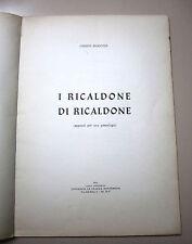 Giuseppe Ricaldone # I RICALDONE DI RICALDONE # La Grafica Monferrina 1963