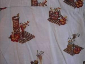 Tiki Tropical Drinks Hawaiian Shirt Hawaii Med QuikSilver Edition M Cotton Blend