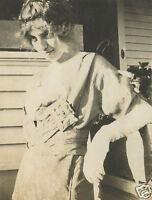 VINTAGE EDWARDIAN ARTISTIC AMERICAN BEAUTY BRUNETTE COUNTRY DRESS EMOTIONS PHOTO