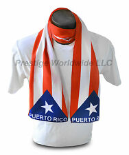 Puerto Rican Flag Print Scarf *NEW* One-Size-Fits-All Rico Gift *FREE SHIPPING*