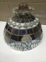 Genuine Stained Glass Swag Lamp Slag Art Naveu Tiffany Style Hand Made (c22)