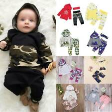 Toddler Baby Hooded Tracksuit Set Long Sleeve Sweatshirt Harem Pants Loungewear