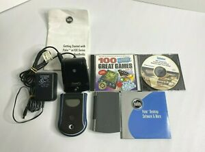Lot (2) Palm Pilot w/ Charger, Manuals, & Software Hand Held Organizer Untested