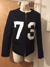 Moschino Couture White Quilted 73 Varsity Jacket Size UK 10/42 RRP £1125