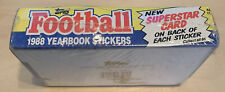 1988 Topps Yearbook Stickers Football (Factory Sealed Closeout Box)