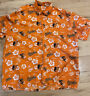 MLB Baltimore Orioles Orange Hawaiian Shirt Button Down Baseball Size XL Mens