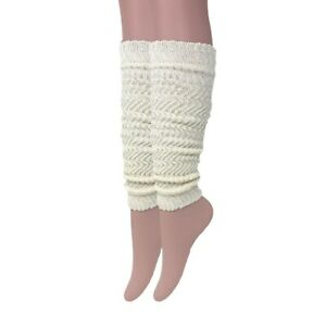 Cotton Leg Warmers for Women 1 Pair Cotton Knitted Retro