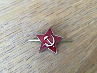 Genuine Russian USSR Soviet Red Army Small Star Hat Pin Badge Kokarda