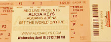 Alicia Keys memorabilia concert tickets 2013