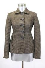 womens brown houndstooth BANANA REPUBLIC blazer jacket wool XXS 00 PETITE 00P