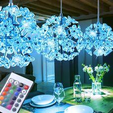RGB LED Blüten Pendel Leuchte Fernbedienung Ess Zimmer Decken Hänge Lampe Dimmer