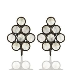 CZ 925 Sterling Silver Handmade Design Stud Earring Gemstone Jewelry
