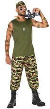 Déguisement Homme MILITAIRE S Armée Soldat Commando Rambo NEUF pas cher