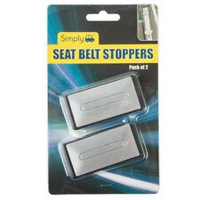 Universal Seat Belt Stoppers x2 Buckle Clip Support Adjuster Improves Comfort