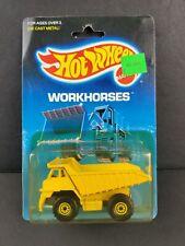 1988 Hot Wheels Workhorses Dump Truck 1171 Die Cast Metal Yellow Construction